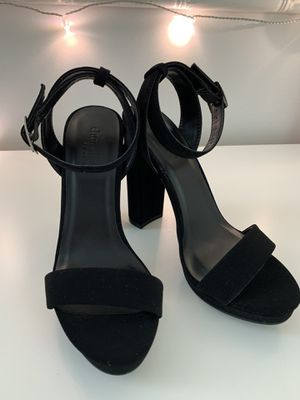 Charlotte Russe Black Suade Strappy Heels for Sale in Springfield, VA