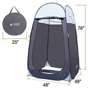 Leader Accessories Pop Up Shower Tent Dressing Changing Tent Pod Toilet Tent for Sale in Murphy, TX