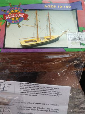 Brigantine Wooden Boat Kit Woodkrafter Kits for Sale in Hesperia, CA
