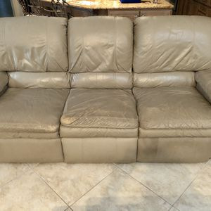 Two Matching Reclining Leather Sofas for Sale in Tarpon Springs, FL
