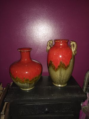 Matching vases home decor for Sale in Mansfield, OH