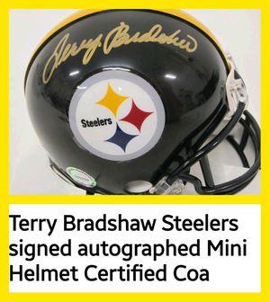 TERRY BRADSHAW signed mini helmet for Sale in Wichita, KS