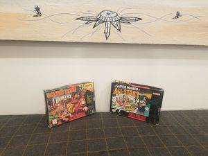 Donkey Kong Country and Super Mario All Stars CIB for Super Nintendo TRADE/OBO for Sale in Columbus, OH