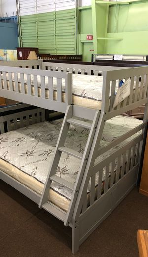 Twin full wooden bunk bed ($479without mattress) for Sale in Stockton, CA