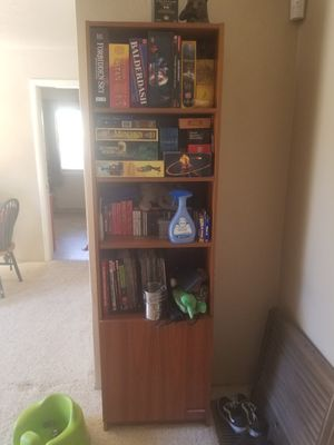 Tall bookcase with storage/shelves for Sale in Modesto, CA