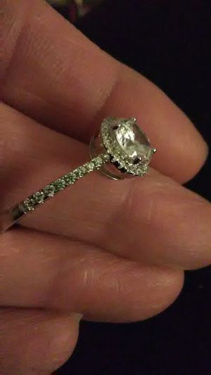 $85 Size 9 Diamond Halo pave , 925 sterling ring for Sale in Lombard, IL