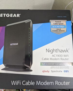 Netgear c7000 Wifi cable modem router for Sale in Crosby, TX