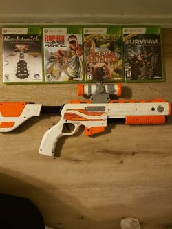 Xbox 360 Games (Gun Included) for Sale in Anaheim,  CA
