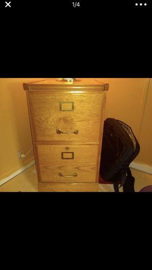 Wood file cabinet for Sale in Las Vegas, NV