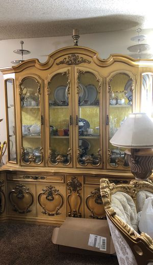 Stunning 9 piece dining set antique for sale for Sale in Fullerton, CA