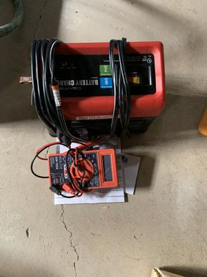 Battery Charger and Multimeter for Sale in Buffalo, NY