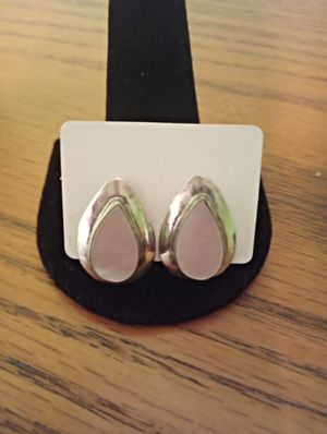 Lovely Sterling silver pink stone earrings for Sale in Washington, PA