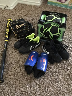 Like new kids sports equipment for Sale in Pflugerville, TX