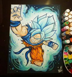 Goku Blue! By Quil - Dragonball Z for Sale in Tracy,  CA