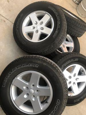 5 stock jeep wrangler sport wheels for Sale in Irwindale, CA