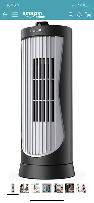 Forty4 4.5 out of 5 stars 41 Reviews Small Oscillating Tower Fan, Portable Electric Desk Fan, Quiet Personal Cooling Fan, 13 Inch, Ultra-Slim, 2 Se for Sale in San Antonio, TX