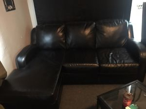 Leather couch for Sale in Buffalo, NY