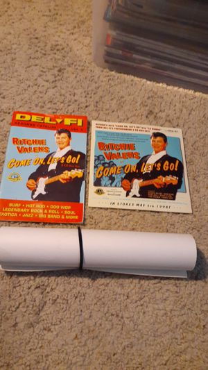 Ritchie valens 45 disc. With catalog and poster. for Sale in Huntington Beach, CA