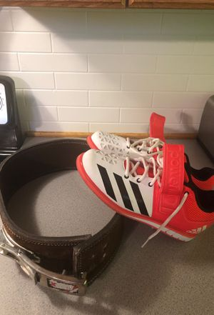Lifting shoes and belt for Sale in Grand Prairie, TX