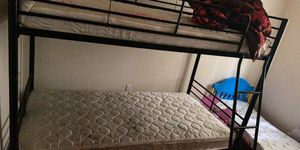 Bunk bed barely used mattresses not included for Sale in Seattle, WA