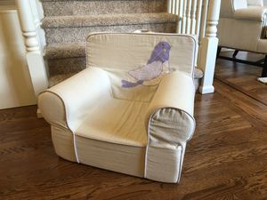 """Pottery barn kids """"Anywhere Chair"""" - Tan & Violet for Sale in Issaquah, WA"""