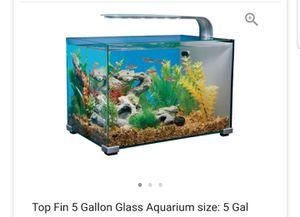 5 gallon top fin tank for Sale in Watkins Glen, NY