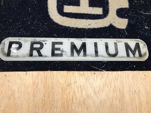 Antique Premium Gas Pump Glass Sign for Sale in Greer, SC