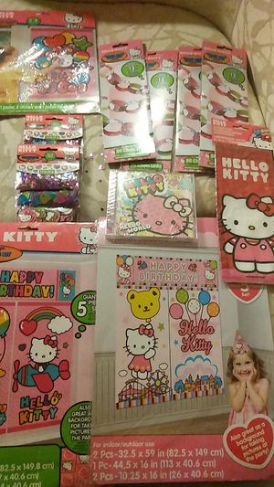 HELLO KITTY Birthday party supply set for Sale in West Haven, CT