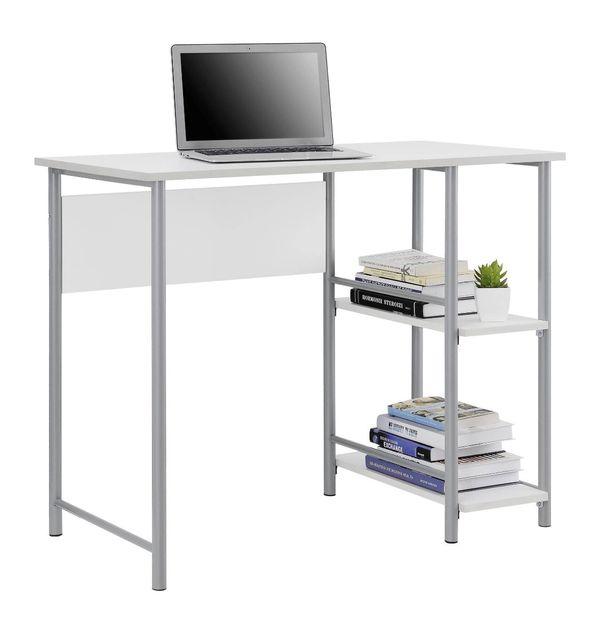 Small white/silver study desk