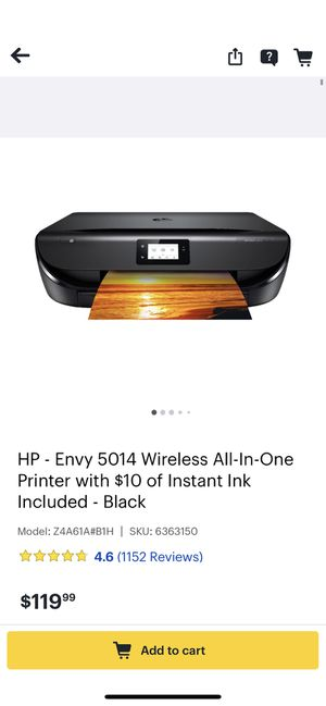 HP ENVY 5014 all-in-one Printer and glass photo papers for Sale in Rogers, AR