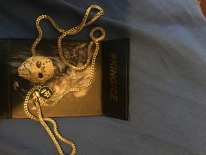Gold plated Jason chain great quality worn once 👹🔥 for Sale in Washington, DC
