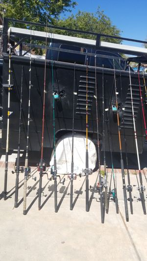 Various fishing rods all different price for Sale in Lake Elsinore, CA