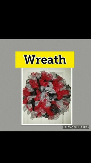 New Wreath White Black Red Halloween Door Decoration for Sale in Kansas City, MO