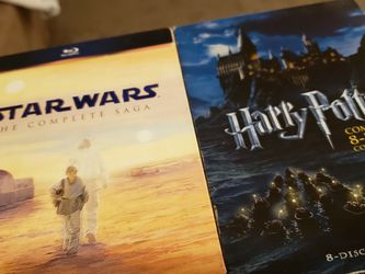 Starwars 1 - 6 Saga Blu-ray And Harry Potter Full Collection for Sale in Port Orchard,  WA