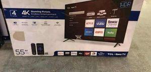 "TCL 4K 55"" smart TV ROKU! NEW OPEN BOX!! 📺📺📺📺 CJ8JB for Sale in Houston, TX"