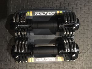 Pro-Form Fusion Space Saver25 dumbbells $45 for Sale in Brook Park, OH