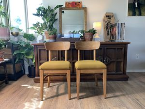 2 Mid Century Dining Chairs for Sale in Seattle, WA
