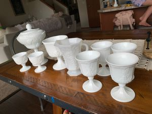 Milk glass (grapes) collection for Sale in Everett, WA