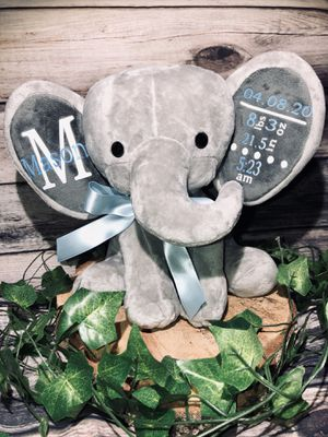Birth Stat Elephant Plush for Sale in Tampa, FL