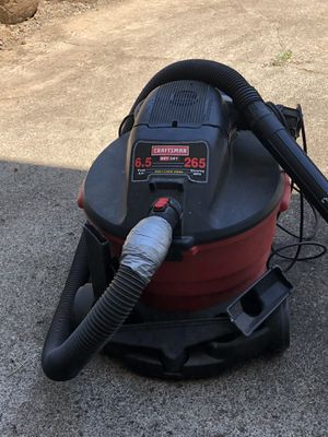 Craftsman 16 Gal 6.5 HP 265 MPH Shop Vac All attachments for Sale in Oregon City, OR