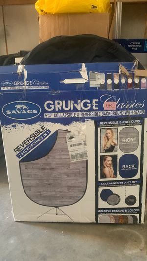 Grunge Classics collapsible and reversible background with stand for Sale in Turlock, CA
