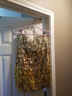 Fringed sparkle 3 tone dress BEBE for Sale in Killeen, TX