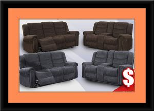 Grey or chocolate recliner set for Sale in College Park, MD