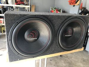 15 inch massive subwoofers and amp.......... for Sale in Sunbury, OH
