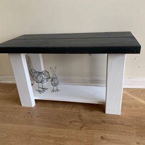 Bench with shelf Indoor & Outdoor Wood Rustic Handmade for Sale in Aurora, IL