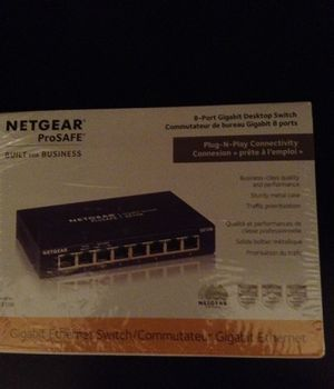 Net gear ProSafe 8 port gigabit desktop switch for Sale in Columbus, GA