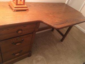 Wooden desk for Sale in Poway, CA