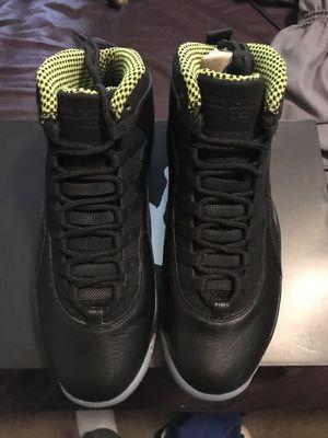Brand New Jordan Retro 10 black and Venom Men's 10 for Sale in Las Vegas, NV