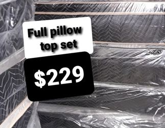 FULL PILLOW TOP MATTRESS AN BOX SPRING for Sale in Fresno,  CA