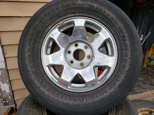 "Set of Chevrolet Silverado 17"" alloy chrome rims/wheels for Sale in Midlothian, IL"
